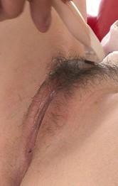 Jun Mamiya Asian with firm knockers has hairy love box shaved