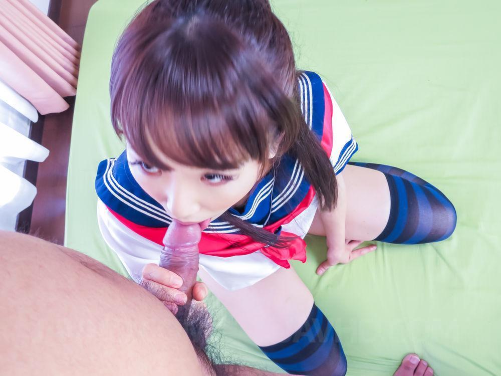 image Schoolgirl ai mizushima sucks dick