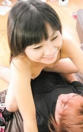 Satomi Miyazaki takes boner in mouth and rides dildo with asshole