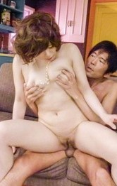 Ririsu Ayaka Asian has racy tits squeezed while is well nailed