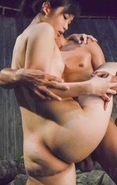 Yui Kasugano Asian is fucked with two fingers and doggy in water
